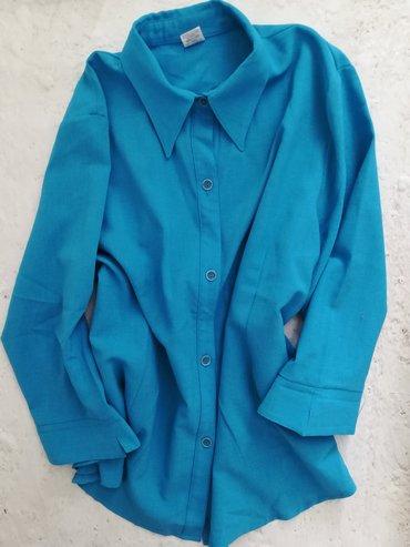 Ženska odeća | Vranje: Nova bluza plave boje sa 3/4 rukavima vel 3XL, obim grudi 130 cm
