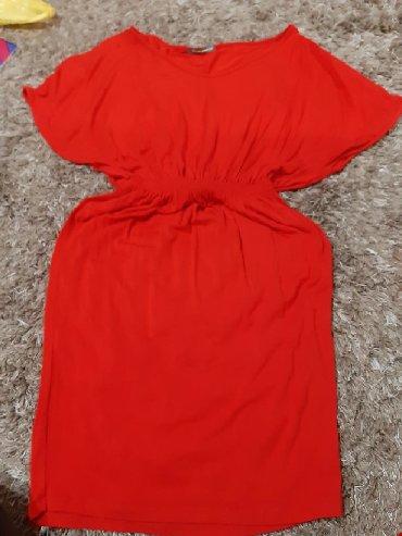Haljina-crvena-ic - Srbija: Crvena haljina mis rukavi