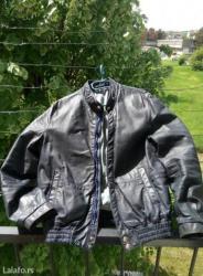 Od-koze-dimenzije - Srbija: Kozna jakna polovna jakna od kvalitetne koze teget boje