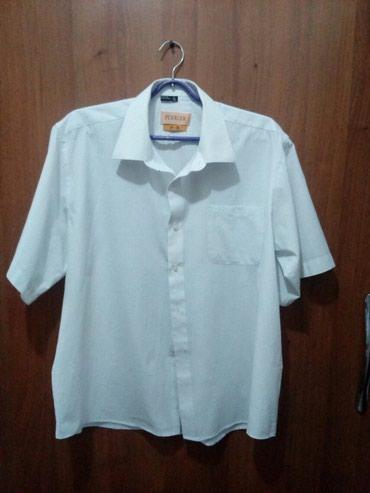 Белая мужская рубашка, одета од н раз, ткань х/б в Бишкек