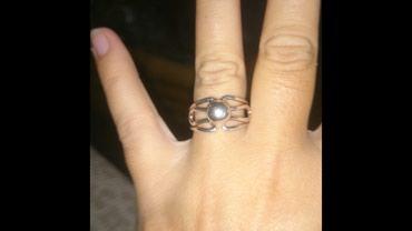 Srebrni prsten neobicnog dizajna, potpuno originalan, sa bombicom, - Belgrade