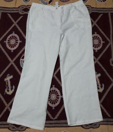 Bele lanene pantalone vel 46/48Struk se rasteže do 120 cm, dužina