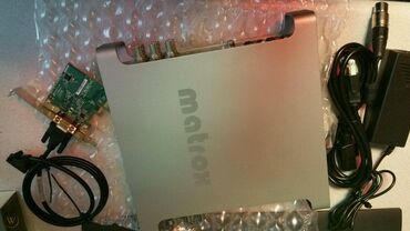 Matrox MXO2 LE Full HD 4K. Teze qutuda