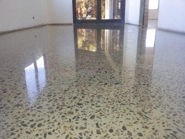 Шлифованный бетонный пол, полированный бетон, полированный пол с