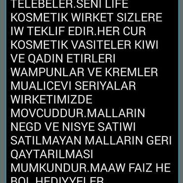 Bakı şəhərində XANİMLARA İW TEKLİFİ