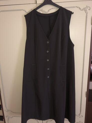 Haljina st - Srbija: Maslinasta haljina, za punije dame. Sa strane ima dzepove