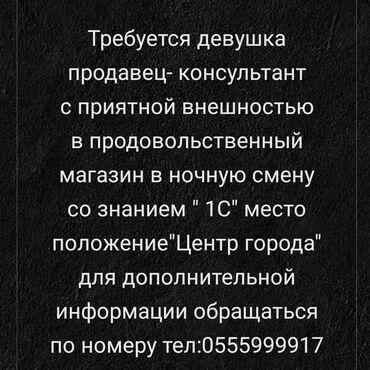 holodilnik samsung 29 в Кыргызстан: Кассир. С опытом. 5/2