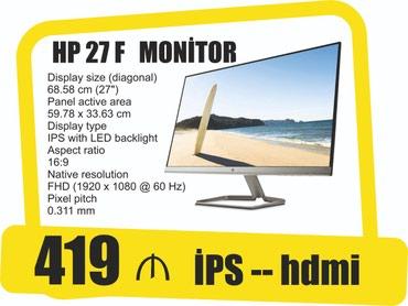 27inch HP İPS monitor 27f в Bakı