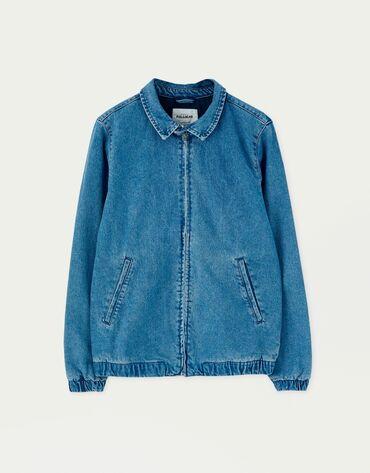 джинсовые шорты мужские в Кыргызстан: PullBear новая джинсовая куртка Харрингтон мужская M размерПокупали в