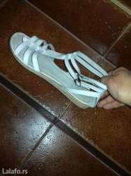 Zenske sandale ocuvane, malo nosene.Broj 41, duzina gazista 26,5cm. Za - Beograd