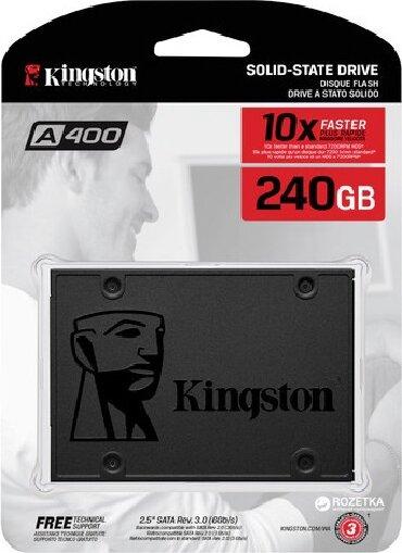 Ssd kingston 60gb ssdnow v300 - Кыргызстан: Внутренний жесткий диск Kingston SA400S37/240G  Основные характеристик