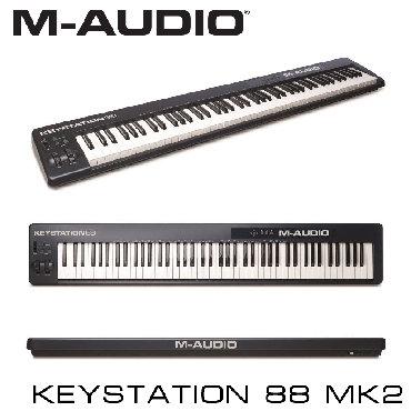 Синтезаторы - Бишкек: Midi-клавиатура M-Audio Keystation 88 II – это простая и эффективная