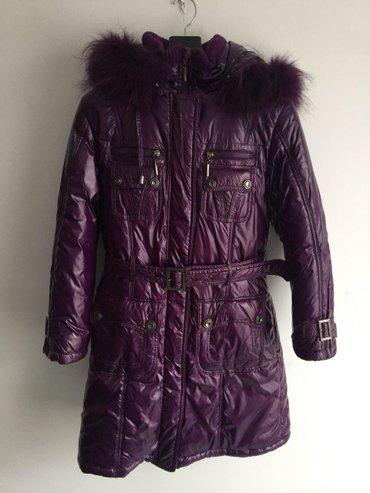 детская куртка в Кыргызстан: Продается куртка детская зимняя, б/у. Состояние на 4+. Размер 140
