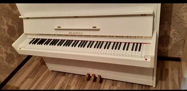 Pianino belarus 3 pedal ağ parlaq