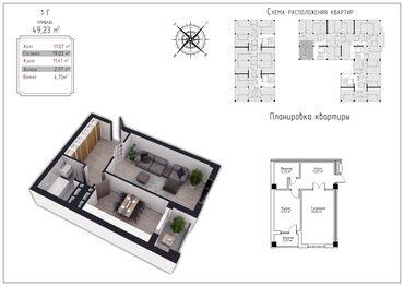 рулевая рейка honda fit в Кыргызстан: Продается квартира: 1 комната, 49 кв. м