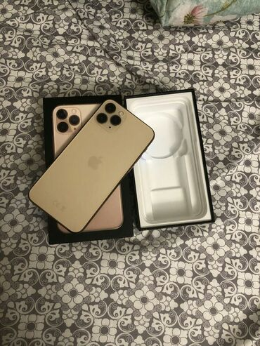продам iphone 11 pro в Кыргызстан: Б/У IPhone 11 Pro Max 256 ГБ Золотой
