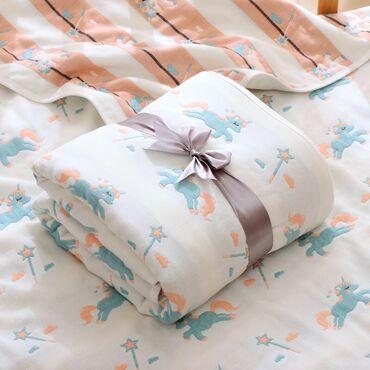 6-ти слойное муслиновое одеяло с платочком. Размер одеяла 110•110см