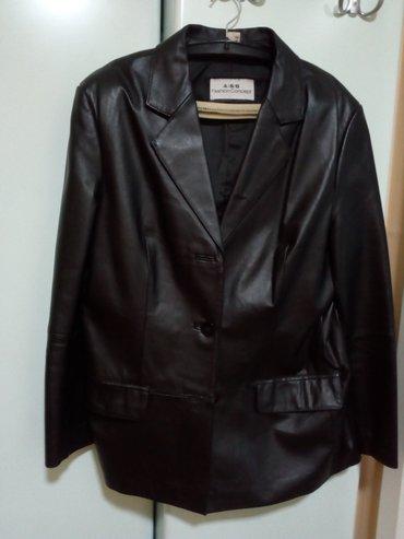 Potpuno nova kožna jakna, sako u crnoj boji, vel.42, obucena svega - Valjevo