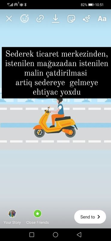 Avto xidmətlər - Azərbaycan: Sederek den malların çatdırılması. istediğiniz malın satıldığı mağaz
