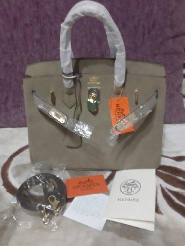 сумка-бу-кожа в Кыргызстан: Сумка Hermes 100% нубук, кожа, 30см распродажа ниже себестоимости с
