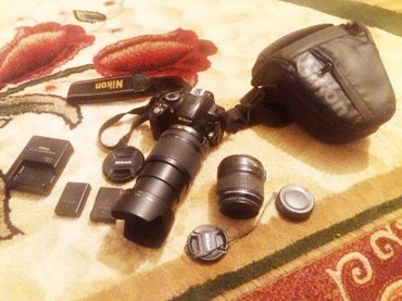 nikon-d-3100 в Кыргызстан: Продаю срочно nikon d 3100 есть все комплекты 2 обьекты. И 2