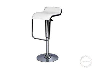 Na prodaju dve barske stolice, crna I bela, materijal eko koza, sa hid - Kragujevac