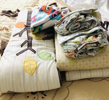 Детские флис - Кыргызстан: Постельный комплект с бортиками на детскую кроватку. Бортики: 2 длинны