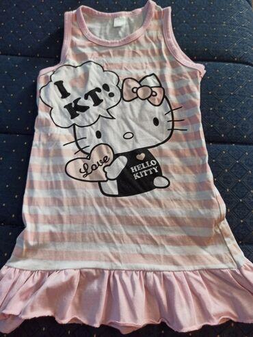 Decije haljine - Krusevac: Pamučna haljinica za devojčice sa motivom Hello Kitty.Isprala se