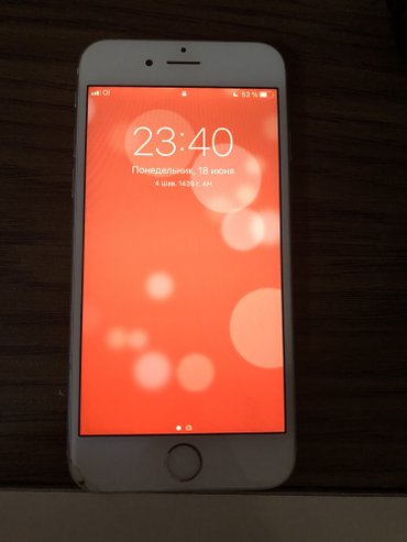 IPhone 6 Silver 16 gb в Бишкек