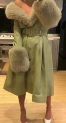 женские бесшовные бюстгальтеры в Азербайджан: Женские пальто с натуральным мехом песца!! Также в другом цвете!!