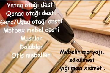 uşaq lipuçkalı krossovkalar - Azərbaycan: Mebellərin montajı.Mebellərin montajı, sökülməsi yığılması Yataq Otağı