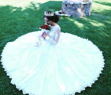 Сдаю на прокат свадебное платье, цвет айвори размер 42-44, очень краси в Бишкек