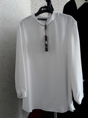 Белая блузка. турция. отличное качество. размер 42. в Бишкек