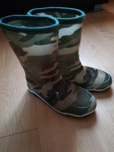 Gumene čizme maskirna šara,za decake nove broj 34/35 - Pancevo
