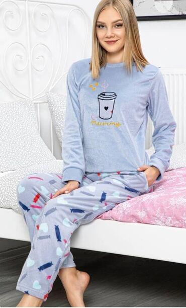 pijama - Azərbaycan: S M L XL Razmerler . Vilyur pijama dəsti