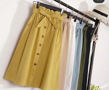 Личные вещи в Кант: Продаю юбку, отличного качества, из плотной ткани с кармашками, нежно