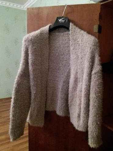 женские-серые-свитера в Азербайджан: Standart olculu Qalin toxunma jaket