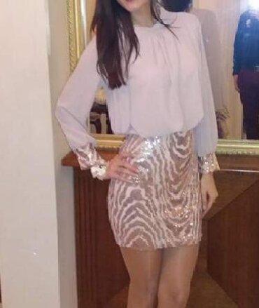 Ženska odeća | Nova Pazova: Nova svečana haljina bez ostecenja. Jednom obučena. Puder roze boje sa