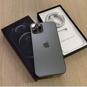 IPhone 12 Pro Max | 256 GB | Qara | Yeni | Zəmanət, Face ID