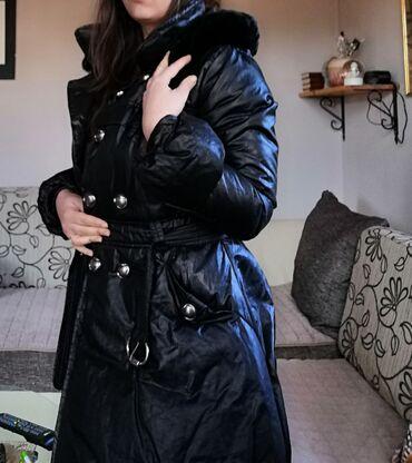 Zimska jakna sa krznom - Srbija: Prelepa zimska jakna sa prirodnim krznom, m vel