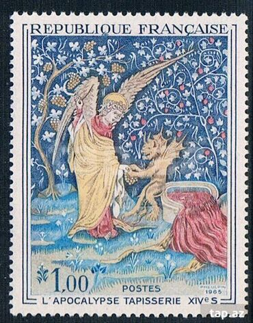 Марки - Азербайджан: Французский марка- 1965-год. для коллекции MNH