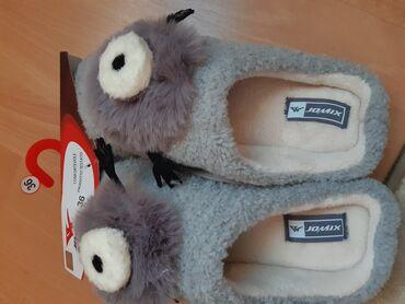 Cm obim tamno sive - Srbija: Sobne papuče - Nove - 39 - 25 cmProdajem prelepe sobne papuče sa