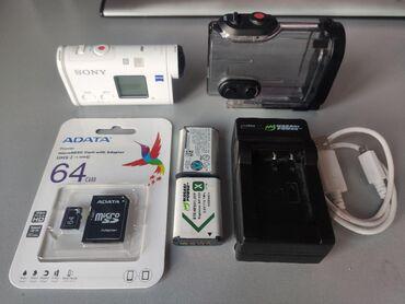 Продаю экшн-камеру Sony FDR-X1000V с аксессуарами Отличается