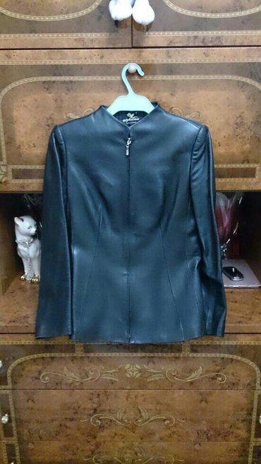 стирающая кожаная куртка в Кыргызстан: Кожаная куртка. продаю кожаный жакет на молнии. размер 44-46