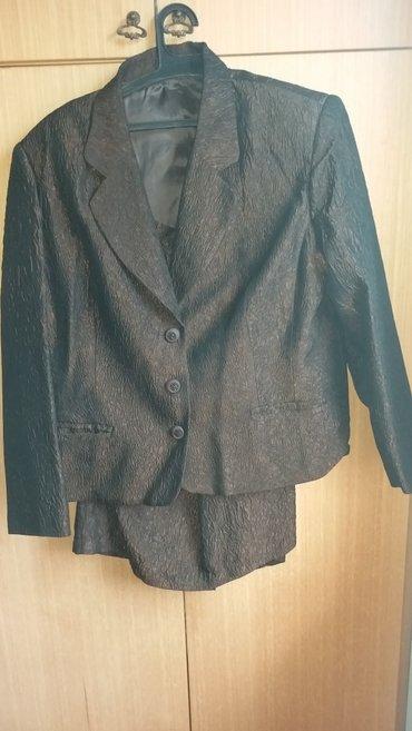 Duzina struk suknja - Srbija: Zenski komplet sako-suknja 46 velicina (siven nijednom obucen), ramena