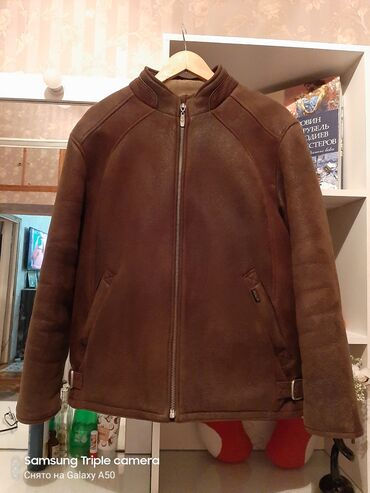 современная одежда мужская в Кыргызстан: Продам мужскую дублёнку размер XL