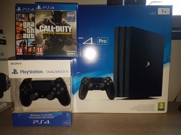 Sony PlayStation 4 pro 1 TB with 3 games and 2 controllers σε Αθήνα