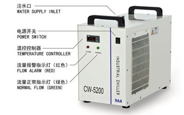S&A CW-5200 water cooled chiller for cooling UVLED exposure in Kathmandu - photo 3