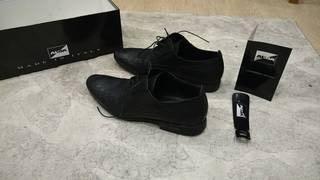 Черные туфли фирмы Alba. Кожаные, 100%, в Бишкек