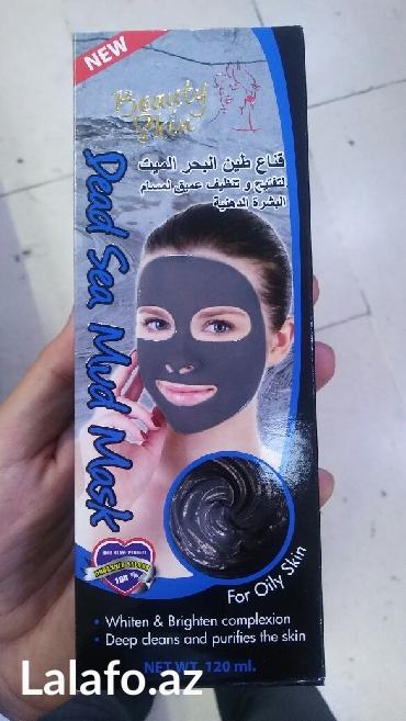 Bakı şəhərində Üzdə və Burunda qara noqteleri temizlemek ucun Ölü dənizin palçığı terkibli qara maska yeniden satiwda!!!